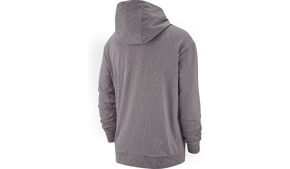 Men's Nike Dry-Fit Training Hoodie - Color: Gunsmoke/Heather/Black Size: S, Gunsmoke/Heather/Black, large, image 2