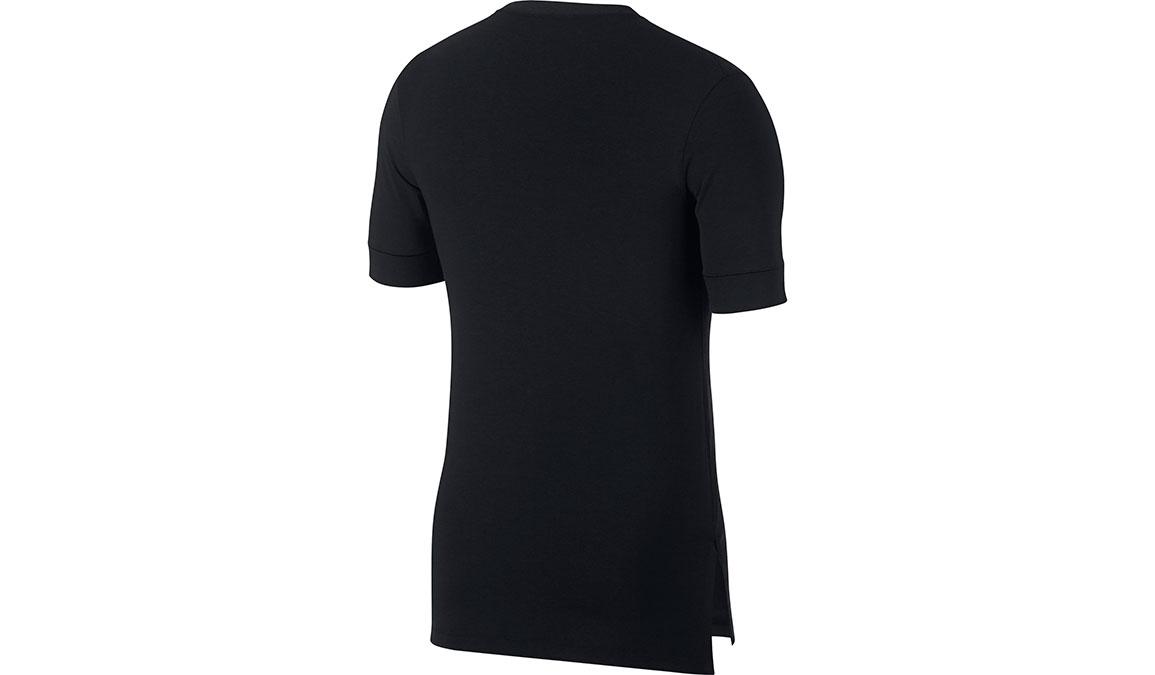 Men's Nike Dry-Fit Yoga Training Top - Color: Black/Dark Grey Size: S, Black/Dark Grey, large, image 2