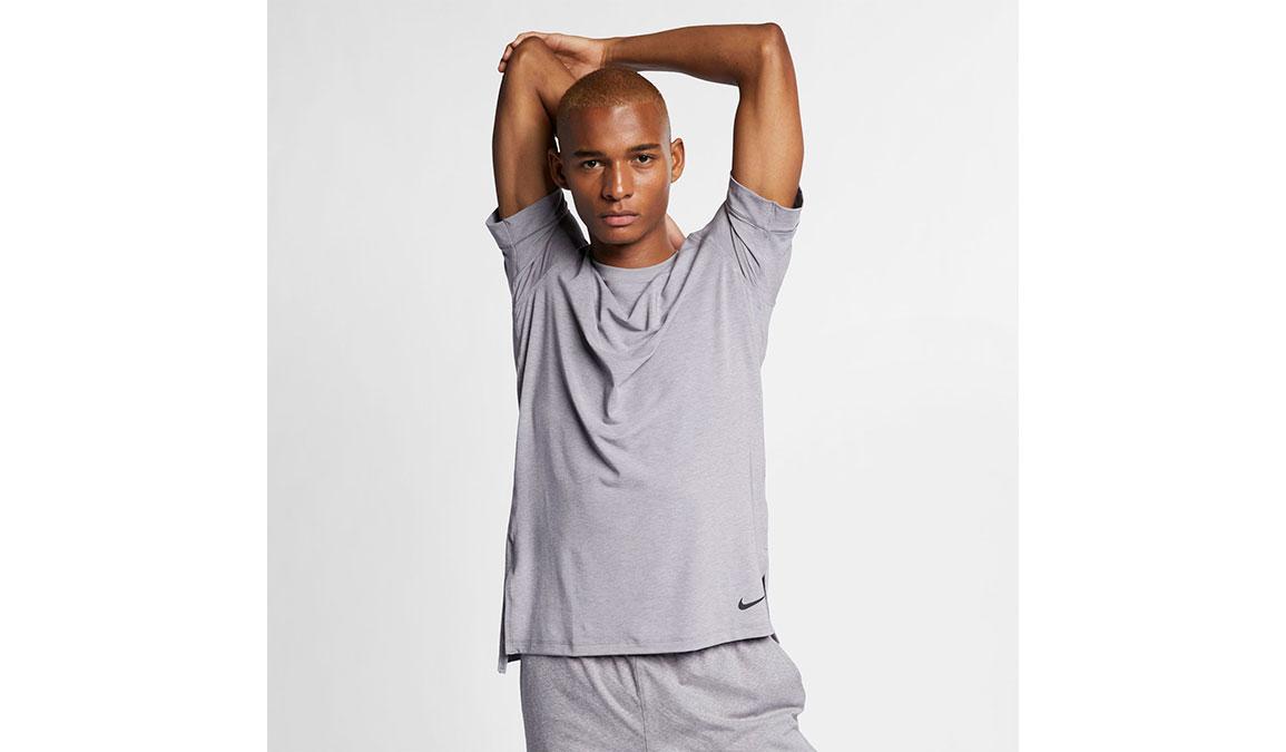 Men's Nike Dry-Fit Yoga Training Top - Color: Gunsmoke/Atmosphere Grey Size: S, Gunsmoke/Atmosphere Grey, large, image 1
