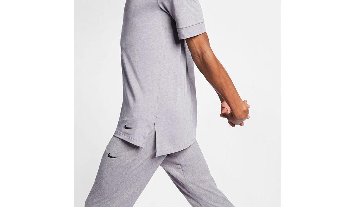 Men's Nike Dry-Fit Yoga Training Top - Color: Gunsmoke/Atmosphere Grey Size: S, Gunsmoke/Atmosphere Grey, large, image 3