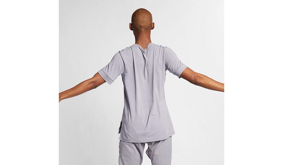 Men's Nike Dry-Fit Yoga Training Top - Color: Gunsmoke/Atmosphere Grey Size: S, Gunsmoke/Atmosphere Grey, large, image 4