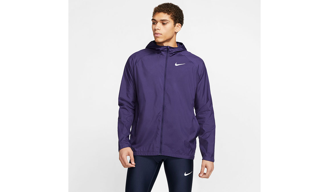 Men's Nike Essential Jacket - Color: Purple/Reflective Silver Size: S, Purple/Reflective Silver, large, image 1