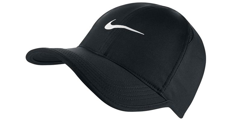 Unisex Nike AeroBill Featherlight Cap - Color: Black/White - Size: One Size, Black/White, large, image 1