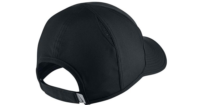 Unisex Nike AeroBill Featherlight Cap - Color: Black/White - Size: One Size, Black/White, large, image 2
