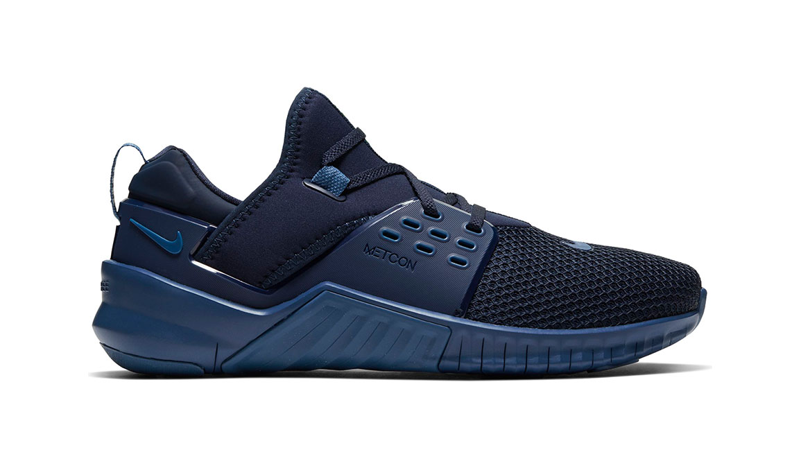 Men's Nike Free X Metcon 2 Training Shoes - Color: Obsidian/Electric Green (Regular Width) - Size: 7, Obsidian/Electric Green, large, image 1