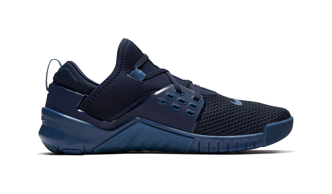 Men's Nike Free X Metcon 2 Training Shoes - Color: Obsidian/Electric Green (Regular Width) - Size: 7, Obsidian/Electric Green, large, image 2