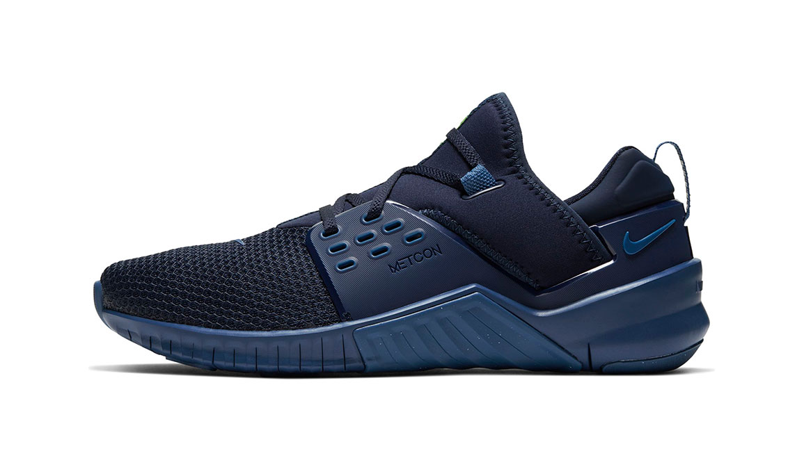 Men's Nike Free X Metcon 2 Training Shoes - Color: Obsidian/Electric Green (Regular Width) - Size: 7, Obsidian/Electric Green, large, image 3