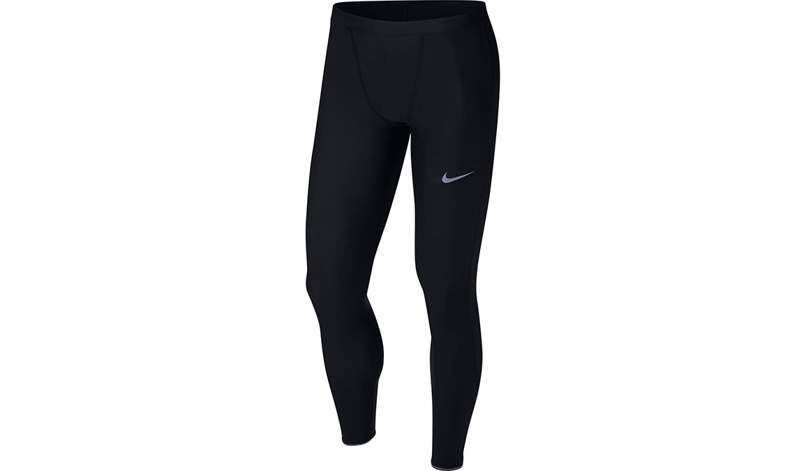Men's Nike Mobility Running Tights - Color: Black/Reflective Silver Size: S, Black/Reflective Silver, large, image 1