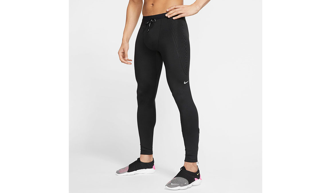 Men's Nike Power Tech Tights - Color: Black Size: S, Black, large, image 1
