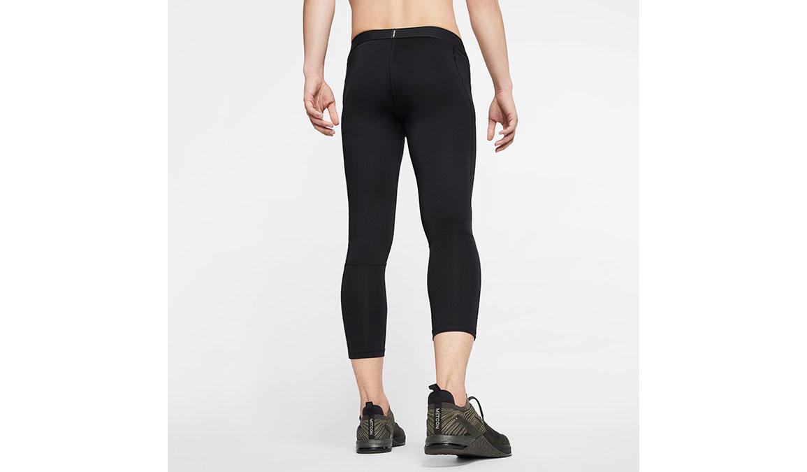 Men's Nike Pro 3/4 Tights - Color: Black/White Size: L, Black/White, large, image 2