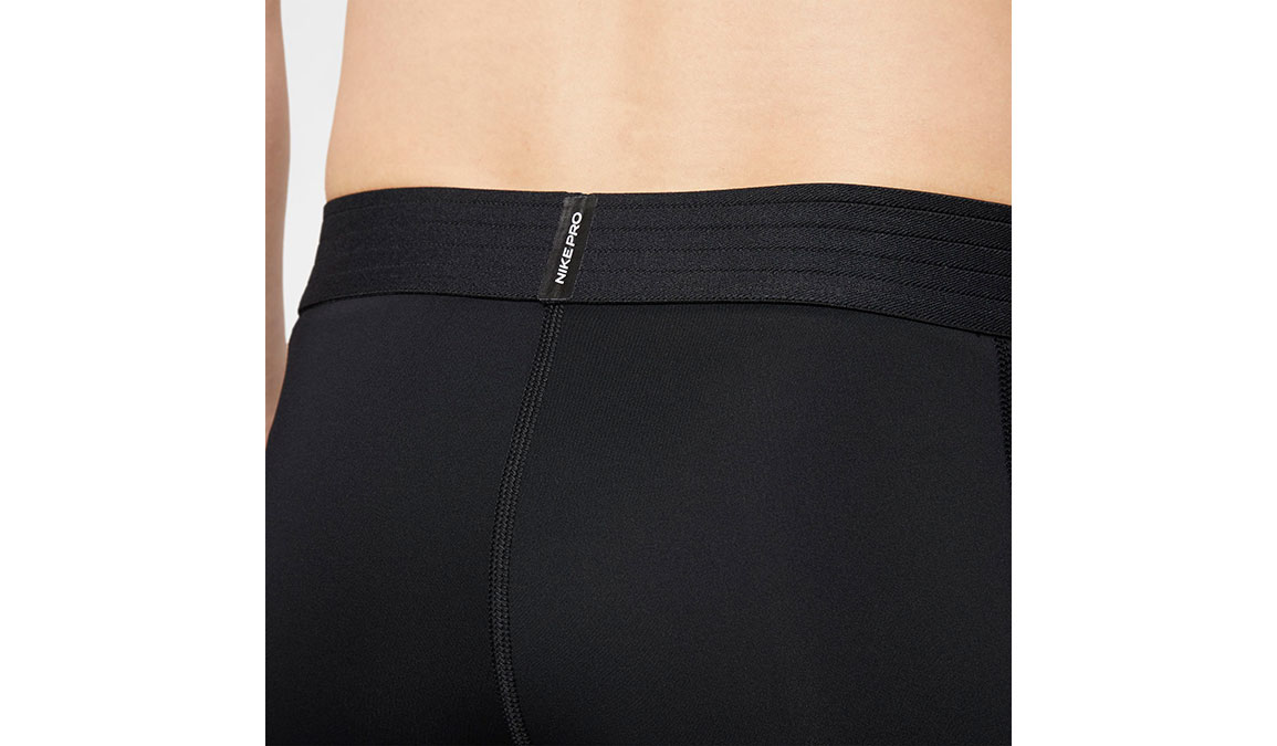 Men's Nike Pro 3/4 Tights - Color: Black/White Size: L, Black/White, large, image 3