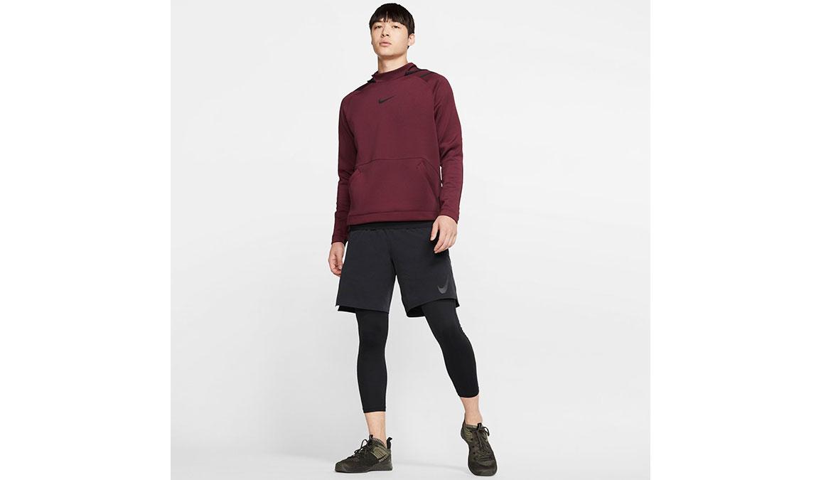 Men's Nike Pro 3/4 Tights - Color: Black/White Size: L, Black/White, large, image 5