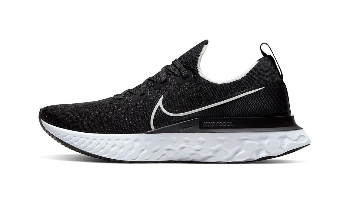 Men's Nike React Infinity Run Flyknit Running Shoe - Color: Black/White (Regular Width) - Size: 11, Black/White, large, image 3