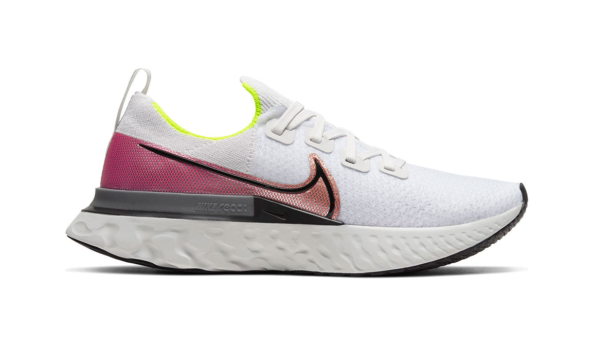 Men's Nike React Infinity Run Flyknit Running Shoe - Color: Platinum Tint/Black (Regular Width) - Size: 7, Platinum Tint/Black, large, image 1