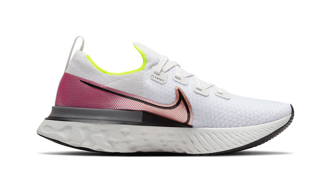 Men's Nike React Infinity Run Flyknit Running Shoe - Color: Platinum Tint/Black (Regular Width) - Size: 7, Platinum Tint/Black, large, image 2