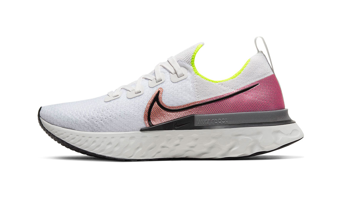 Men's Nike React Infinity Run Flyknit Running Shoe - Color: Platinum Tint/Black (Regular Width) - Size: 7, Platinum Tint/Black, large, image 3