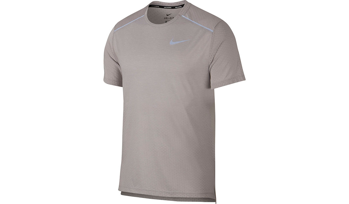 Men's Nike Rise 365 Running Top - Color: Atmosphere Grey/Heather/Reflective Silver Size: S, Atmosphere Grey/Heather/Reflective Silver, large, image 1