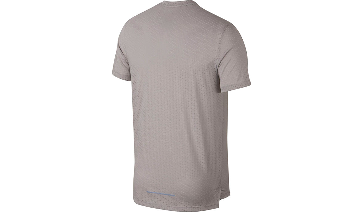 Men's Nike Rise 365 Running Top - Color: Atmosphere Grey/Heather/Reflective Silver Size: S, Atmosphere Grey/Heather/Reflective Silver, large, image 2