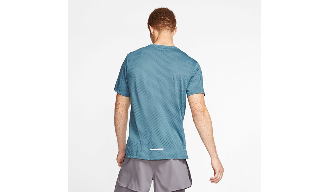 Men's Nike Rise 365 Running Top - Color: Thunderstorm/Reflective Silver Size: S, Thunderstorm/Reflective Silver, large, image 2