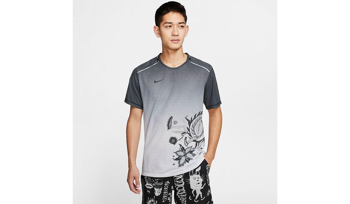 Men's Nike Rise 365 Wild Run Top - Color: Black/White/Reflective Silver Size: S, Black/White/Reflective Silver, large, image 1