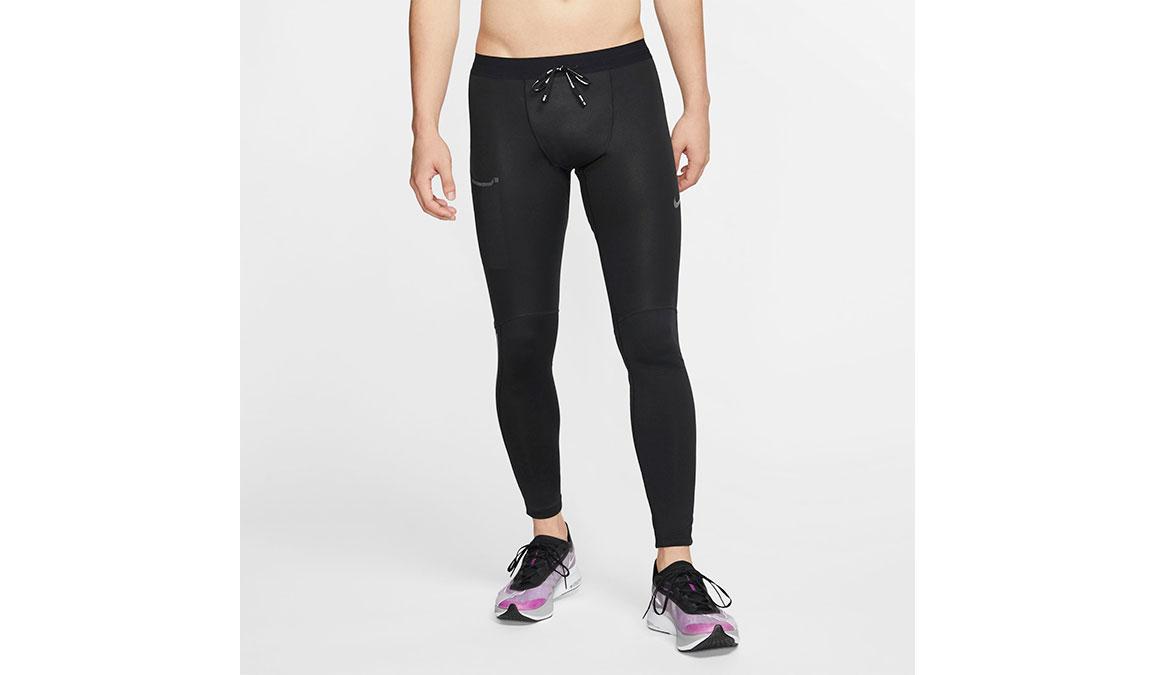 Men's Nike Shield Tights - Color: Black/Reflective Silver Size: S, Black/Reflective Silver, large, image 1