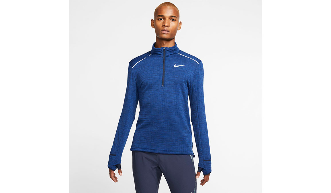 Men's Nike Sphere Element 3.0 Half Zip - Color: Obsidian/Reflective Silver Size: S, Obsidian/Reflective Silver, large, image 1