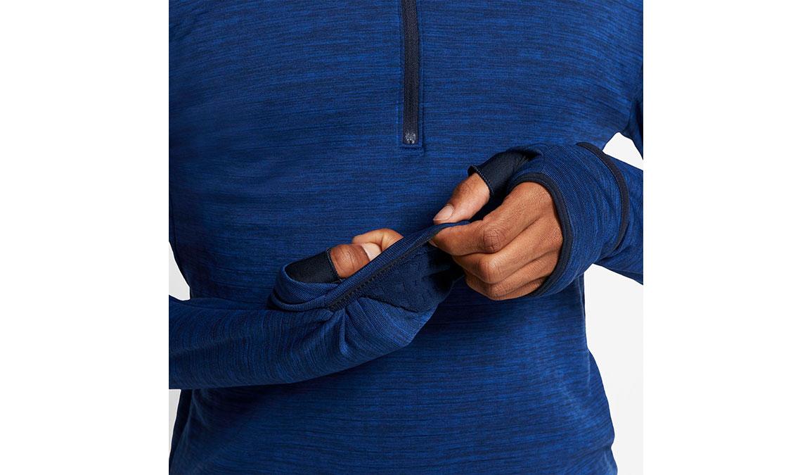 Men's Nike Sphere Element 3.0 Half Zip - Color: Obsidian/Reflective Silver Size: S, Obsidian/Reflective Silver, large, image 4