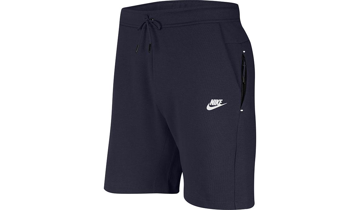 "Men's Nike Sportswear Tech Fleece 8"" Shorts - Color: Obsidian/White Size: XS, Obsidian/White, large, image 1"