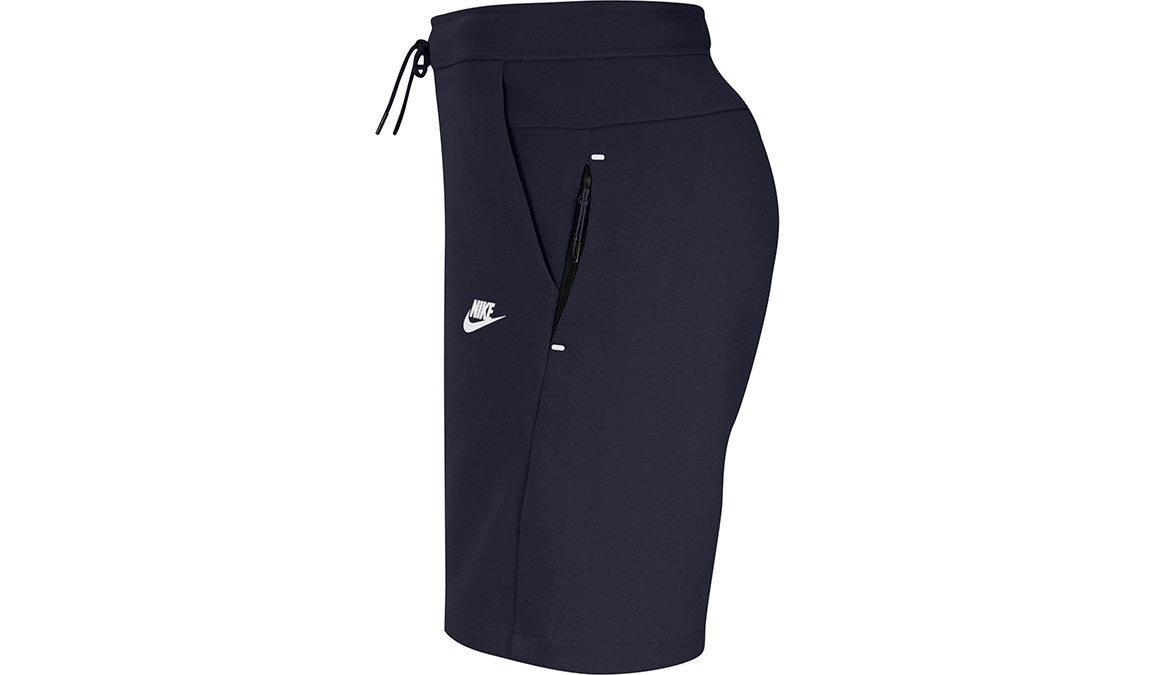 "Men's Nike Sportswear Tech Fleece 8"" Shorts - Color: Obsidian/White Size: XS, Obsidian/White, large, image 2"