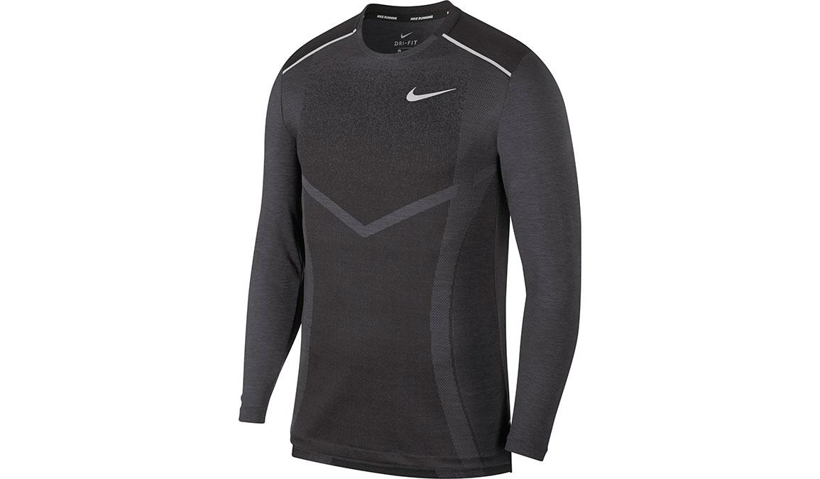 Men's Nike TechKnit Ultra Long Sleeve - Color: Black/Thunder Grey/Reflective Silver Size: S, Black/Thunder Grey/Reflective Silver, large, image 1