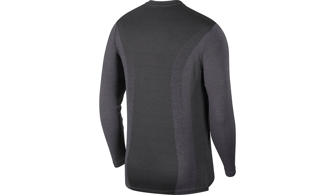 Men's Nike TechKnit Ultra Long Sleeve - Color: Black/Thunder Grey/Reflective Silver Size: S, Black/Thunder Grey/Reflective Silver, large, image 2