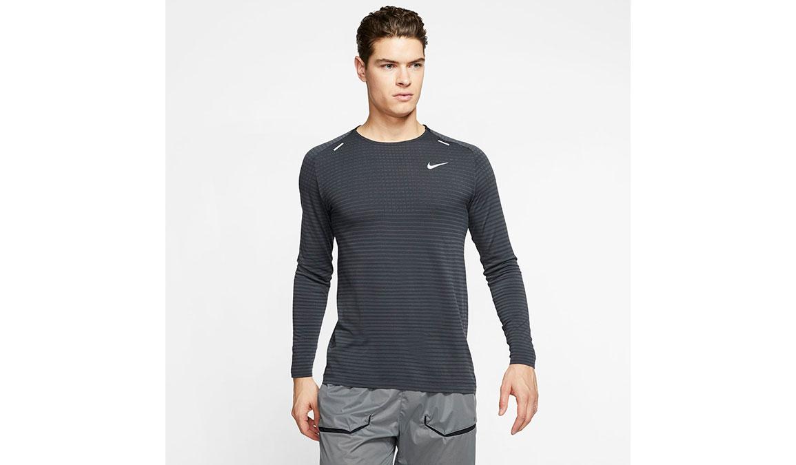 Men's Nike TechKnit Ultra Top - Color: Black/Dark Smoke Size: S, Black/Dark Smoke, large, image 1