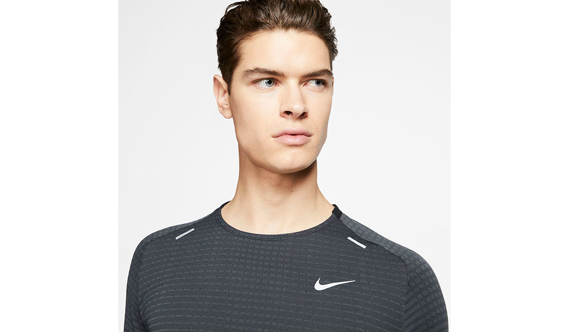 Men's Nike TechKnit Ultra Top - Color: Black/Dark Smoke Size: S, Black/Dark Smoke, large, image 3