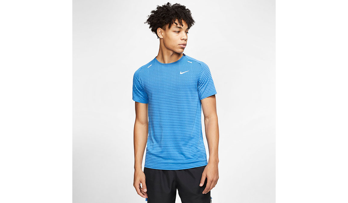 Men's Nike TechKnit Ultra Top - Color: Pacific Blue/Obsidian Size: S, Pacific Blue/Obsidian, large, image 1