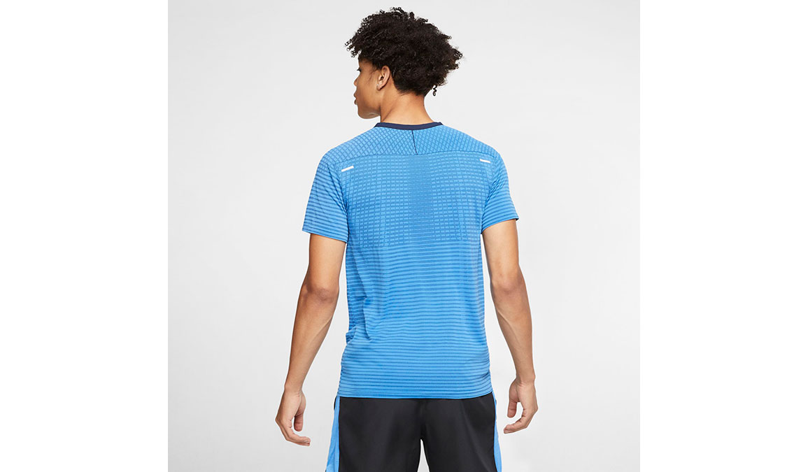 Men's Nike TechKnit Ultra Top - Color: Pacific Blue/Obsidian Size: S, Pacific Blue/Obsidian, large, image 2