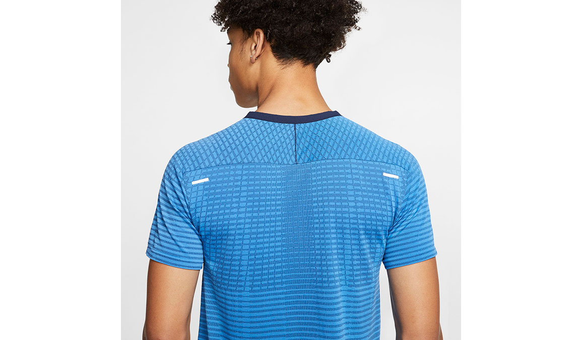 Men's Nike TechKnit Ultra Top - Color: Pacific Blue/Obsidian Size: S, Pacific Blue/Obsidian, large, image 4