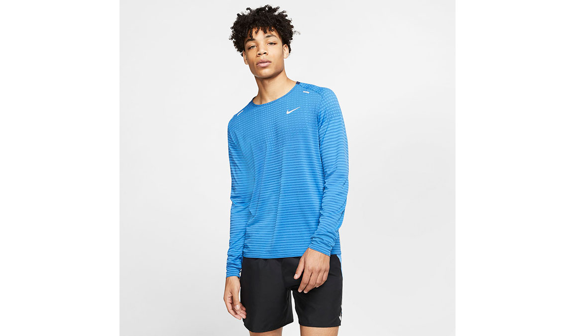 Men's Nike TechKnit Ultra Top - Color: Pacific Blue/Reflective Silver Size: S, Pacific Blue/Reflective Silver, large, image 1