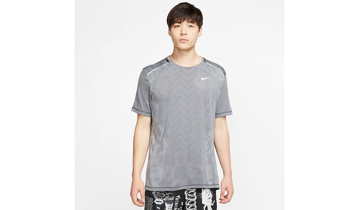 Men's Nike Wild Run TechKnit Top - Color: Black/Dark Smoke Size: S, Black/Dark Smoke, large, image 1