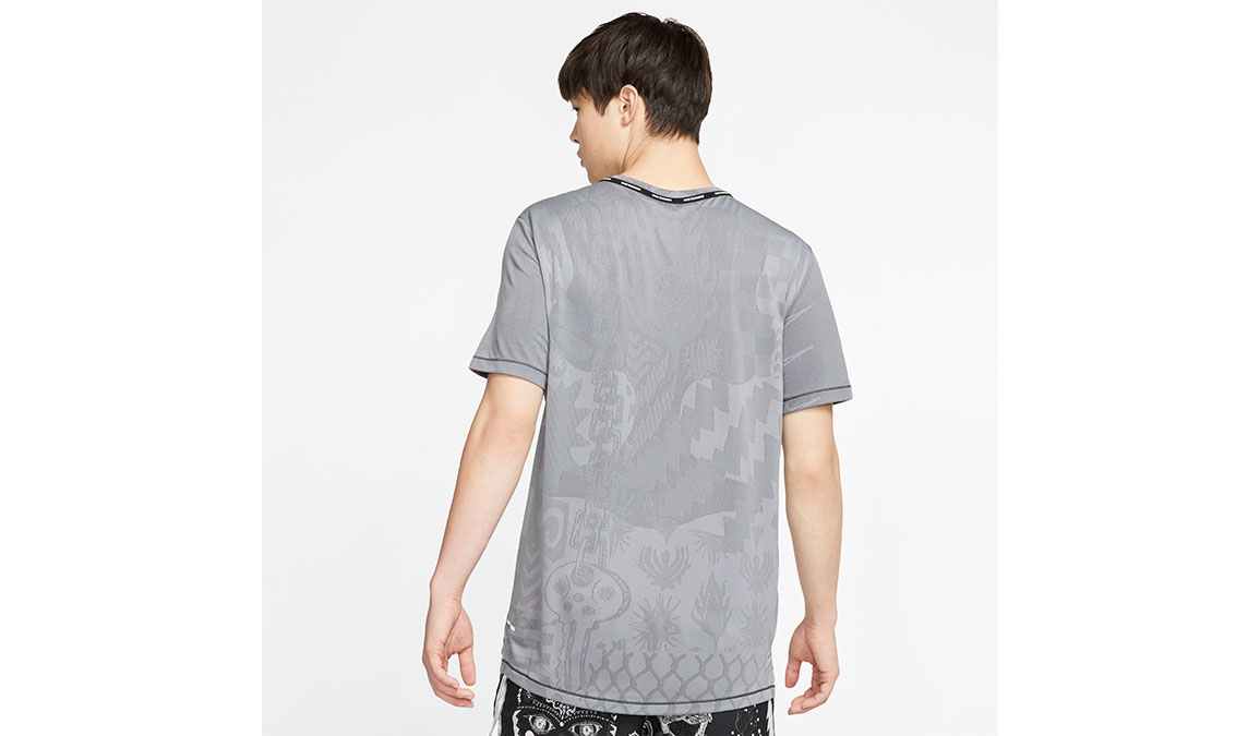 Men's Nike Wild Run TechKnit Top - Color: Black/Dark Smoke Size: S, Black/Dark Smoke, large, image 2