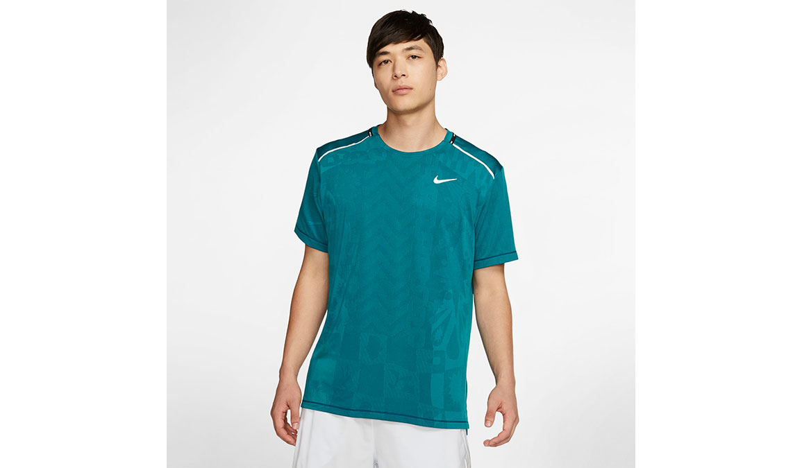 Men's Nike Wild Run TechKnit Top - Color: Blackened Blue/Reflective Silver Size: S, Blackened Blue/Reflective Silver, large, image 1