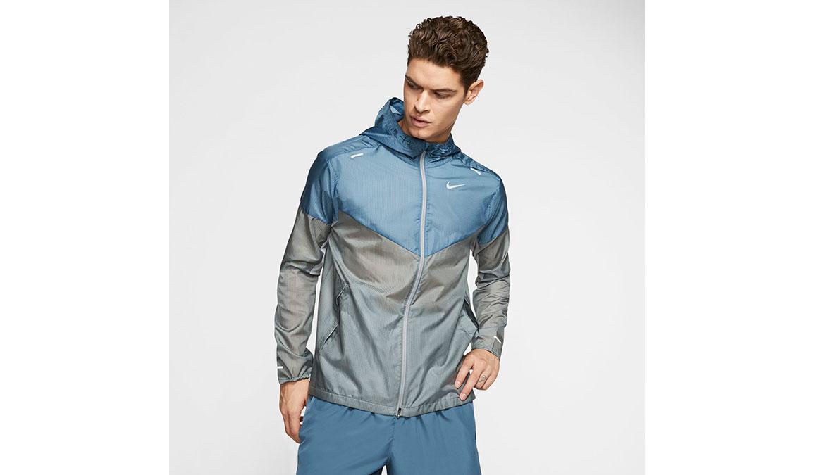 Men's Nike Windrunner Jacket - Color: Smoke Grey/Thunderstorm Size: M, Smoke Grey/Thunderstorm, large, image 1