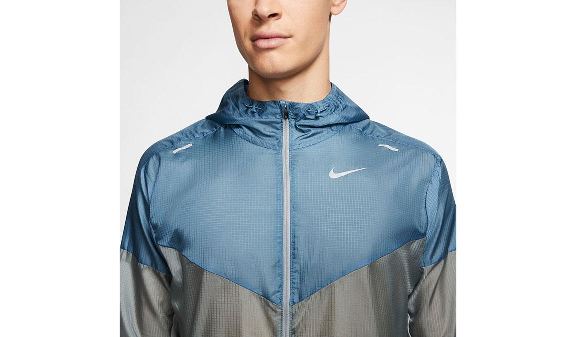 Men's Nike Windrunner Jacket - Color: Smoke Grey/Thunderstorm Size: M, Smoke Grey/Thunderstorm, large, image 3