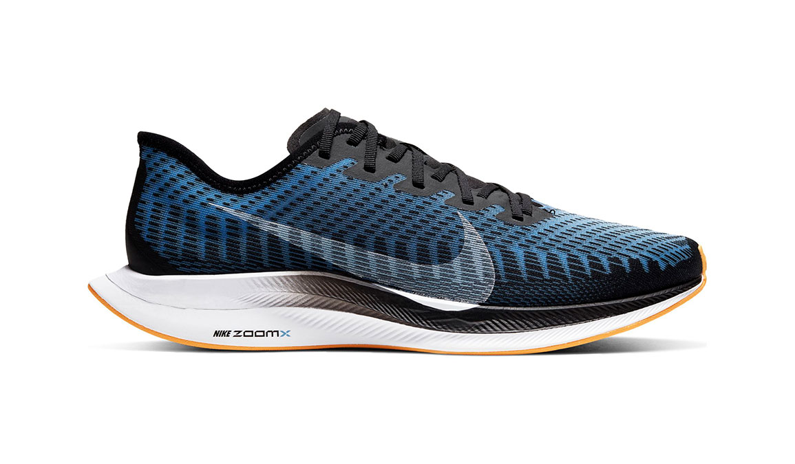 Men's Nike Zoom Pegasus Turbo 2 Running Shoe - Color: Black/University Blue/Laser Orange (Regular Width) - Size: 9, Black/University Blue/Laser Orange, large, image 1