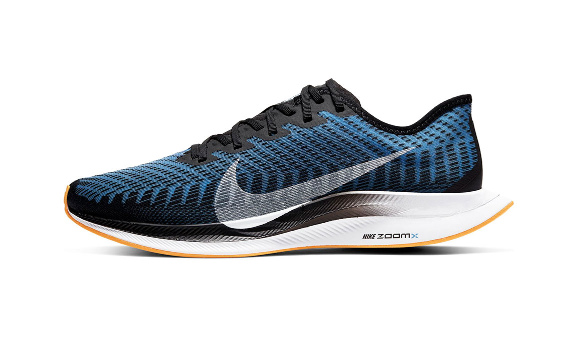 Men's Nike Zoom Pegasus Turbo 2 Running Shoe - Color: Black/University Blue/Laser Orange (Regular Width) - Size: 9, Black/University Blue/Laser Orange, large, image 3