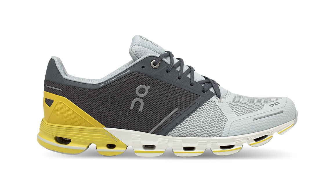 Men's On Cloudflyer Running Shoe - Color: Grey/Lime (Regular Width) - Size: 7, Grey/Yellow, large, image 1
