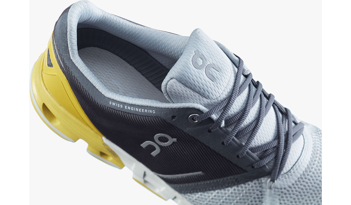 Men's On Cloudflyer Running Shoe - Color: Grey/Lime (Regular Width) - Size: 7, Grey/Yellow, large, image 3