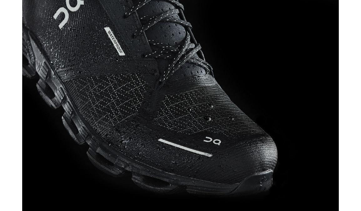 Men's On Cloudflyer Waterproof Running Shoe - Color: Black/Lunar (Regular Width) - Size: 8.5, Black/Lunar, large, image 2