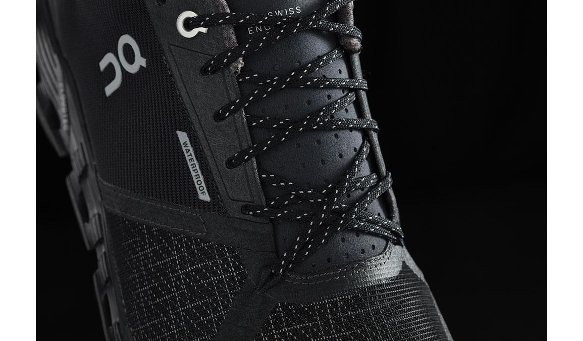 Men's On Cloudflyer Waterproof Running Shoe - Color: Black/Lunar (Regular Width) - Size: 8.5, Black/Lunar, large, image 3