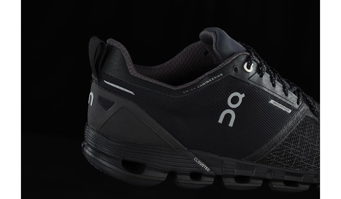 Men's On Cloudflyer Waterproof Running Shoe - Color: Black/Lunar (Regular Width) - Size: 8.5, Black/Lunar, large, image 4