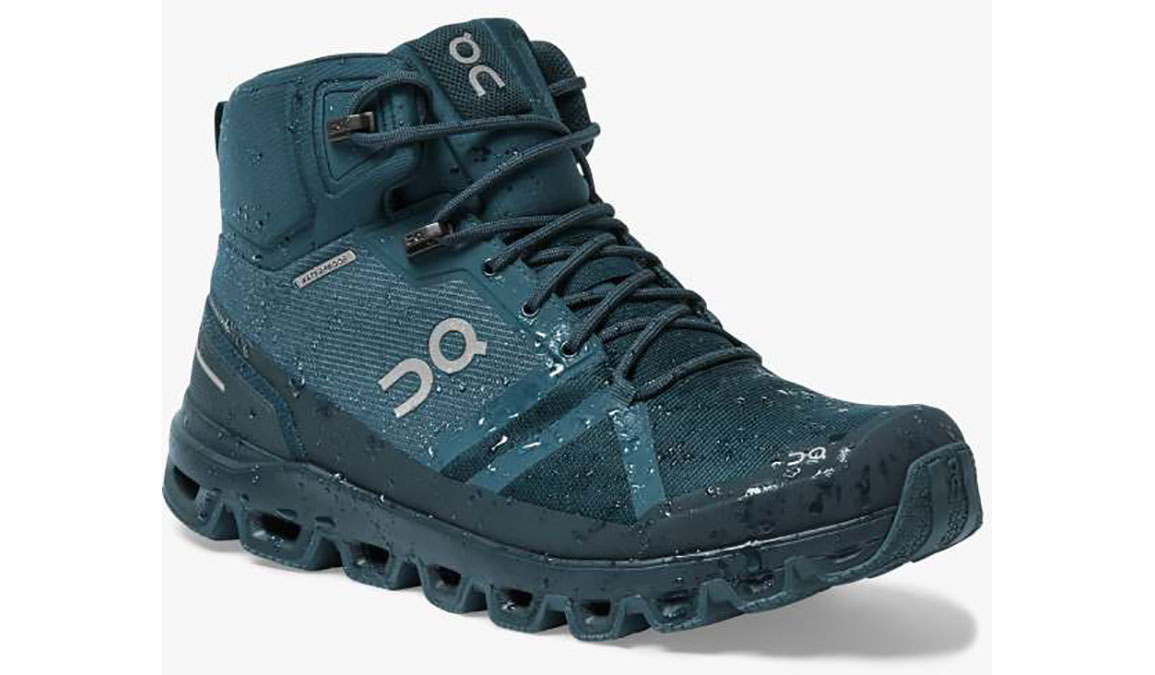 Men's On Cloudrock Waterproof Trail Running Shoe - Color: Navy/Midnight (Regular Width) - Size: 7, Navy/Midnight, large, image 4